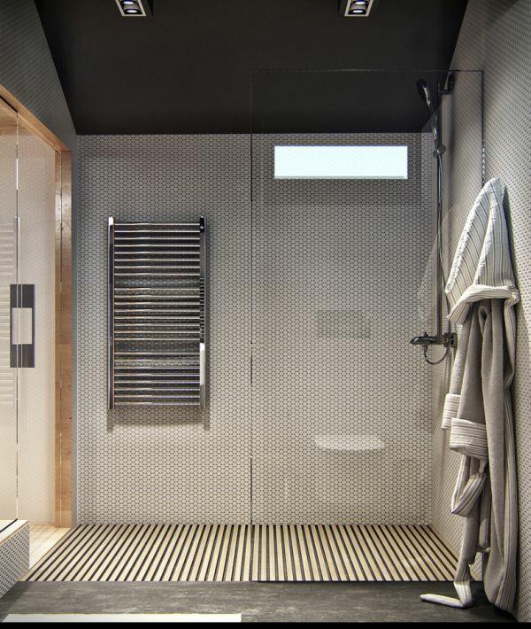 einrichtungsideen badezimmer glaswand
