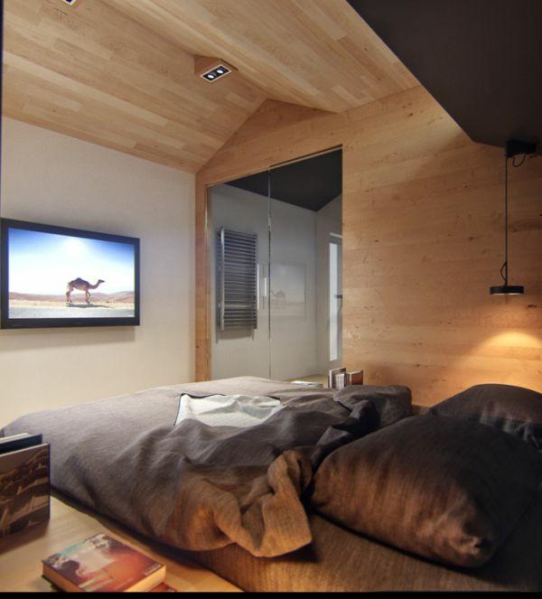 einrichtungsideen tv schlafzimmer