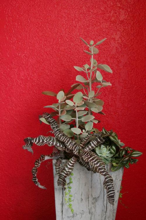 erfolgreiche Gartengestaltung rote wand mauer gestaltung