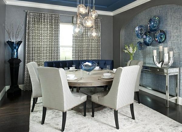 esszimmer esstisch stühle akryl stühle polsterung teppich