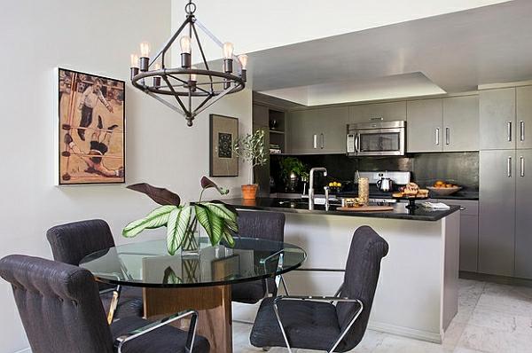 esszimmer esstisch stühlen küchenarbeitsplatte