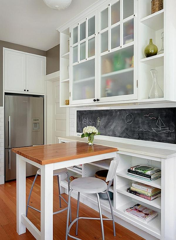 esszimmer esstisch mit stühlen tischplatte holz glatt schultafel