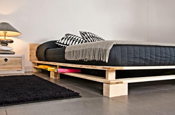 europaletten möbel bastelideen DIY cool modern bettgestell
