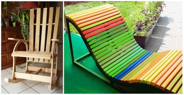 DIY Möbel aus Europaletten bastelideen DIY cool modern bunt