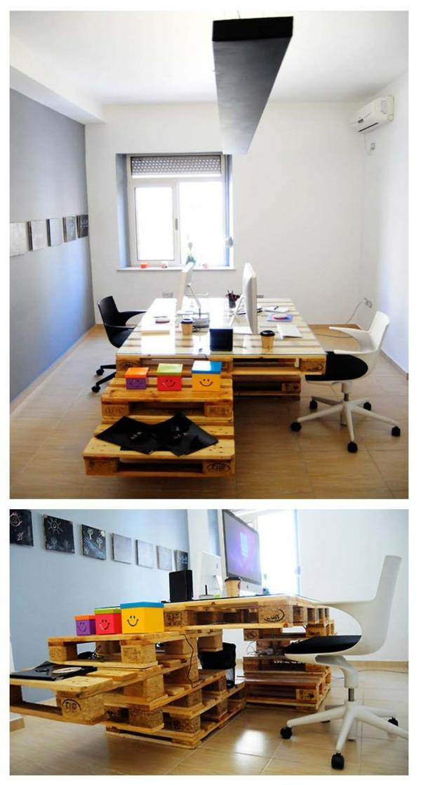 europaletten holz paletten möbel bastelideen DIY cool modern eigenartig