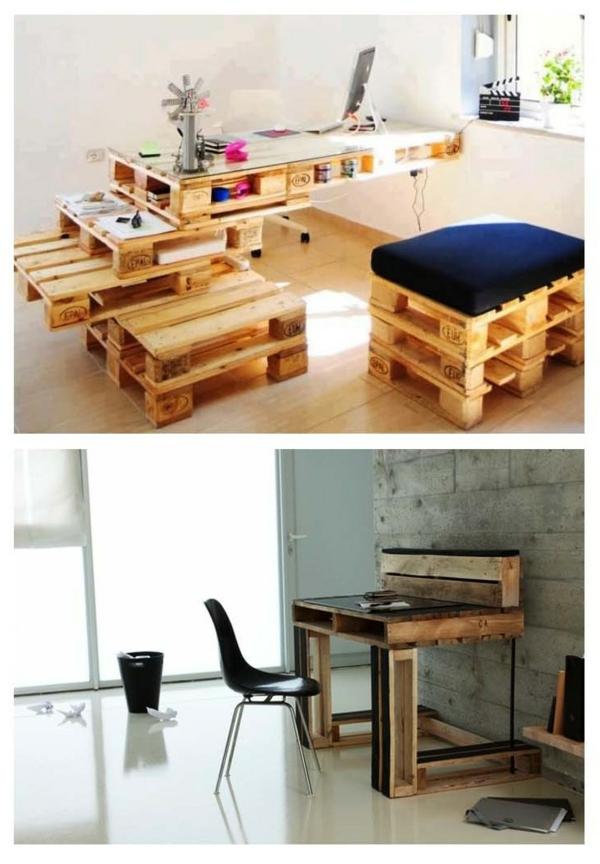 DIY Möbel aus Europaletten möbel bastelideen DIY cool modern originell