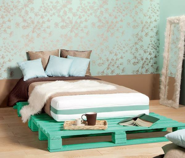 europaletten holz paletten möbel bastelideen DIY cool modern schlafzimmer