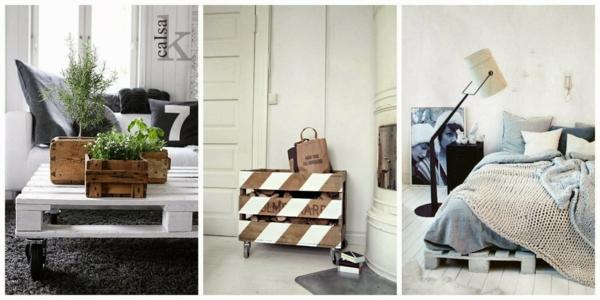 europaletten holz paletten möbel bastelideen DIY cool modern