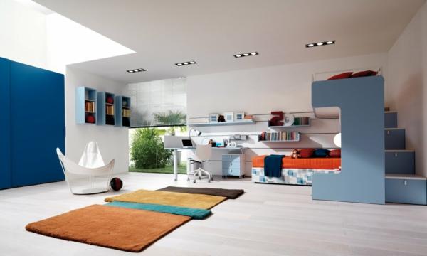 extravagant modern jugendzimmer weich texturen urban stil eingebaut kleiderschrank