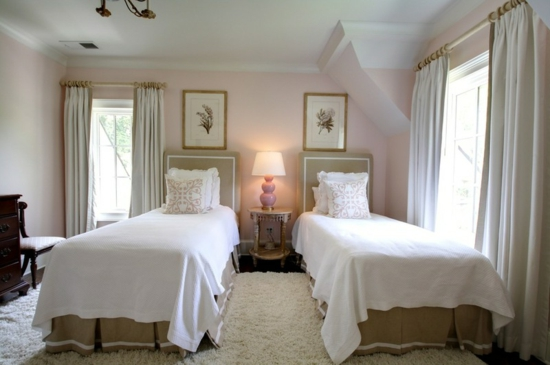 ... und bunte wohnideen rosa wandfarbe schlafzimmer pastellfarbe hell