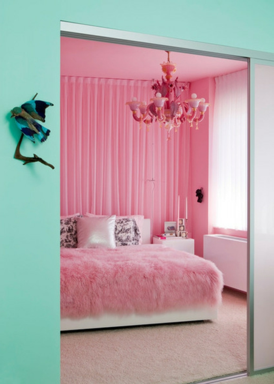 schlafzimmer rosa gr n inspiration f r die gestaltung der besten r ume. Black Bedroom Furniture Sets. Home Design Ideas