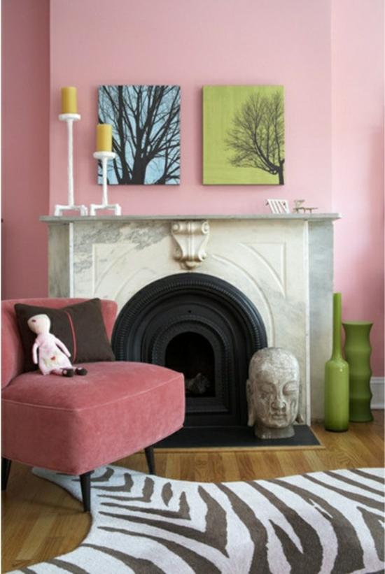 Rosa Wandfarbe Wohnzimmer ~ Home Design Inspiration