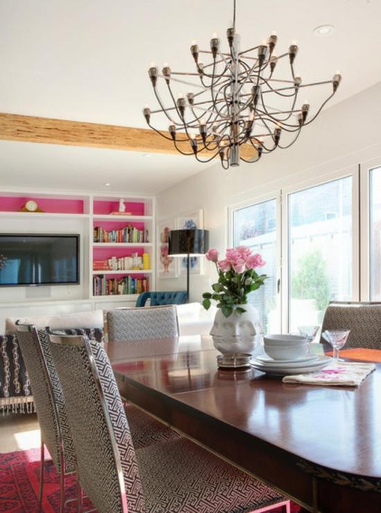 Farbgestaltung und bunte wohnideen rosa im einsatz - Magenta wandfarbe ...
