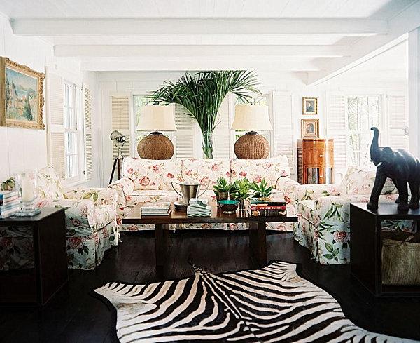 Arbeitszimmer Gr N wohnideen mit palmwedel prints inspiration aus den tropen