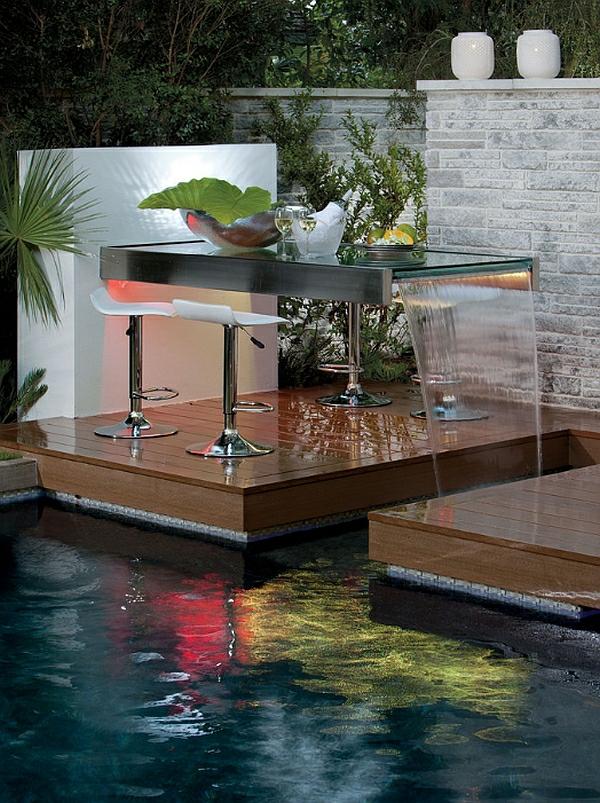 Garten Mit Pool Beistelltisch Luxus Modern
