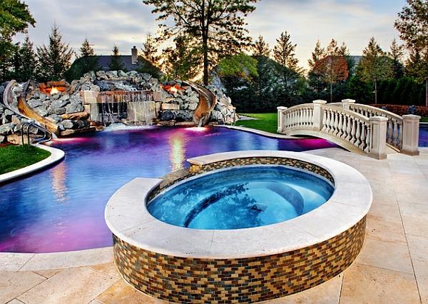 Marvelous Garten Mit Pool Palmen Exotik Brücke