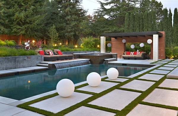 garten mit pool gestalten 20 traumhafte gartenpools als. Black Bedroom Furniture Sets. Home Design Ideas
