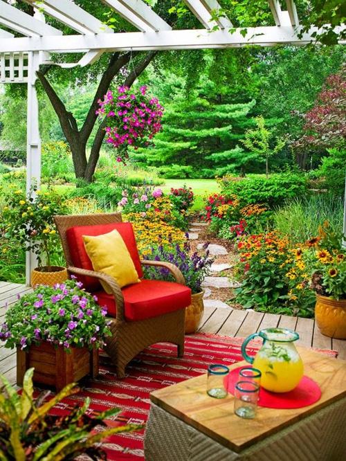 Gartenmöbel Ideen Außenmöbel Künstlerisch Rattanmöbel Rot