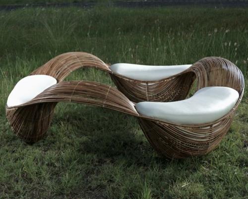 gartenmöbel ideen außenmöbel künstlerisch rattanmöbel