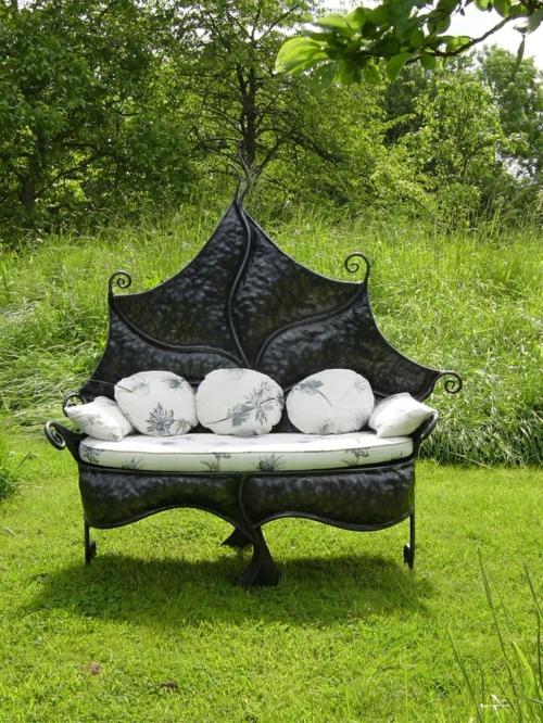 gartenmöbel ideen bogen sofa künstlerisch form