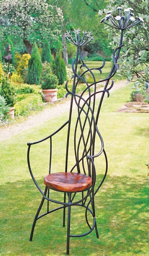 gartenmöbel ideen bogen sofa künstlerisch stuhl