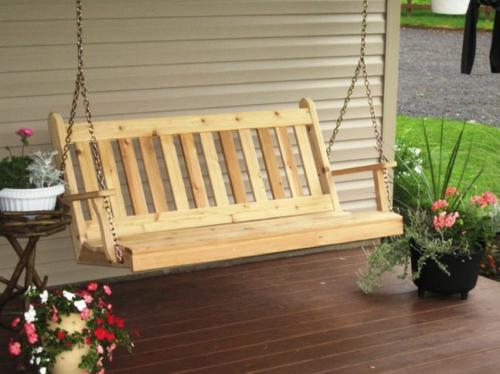 Gartenschaukel selber bauen  wunderschöne Ideen und Tipps für Sie