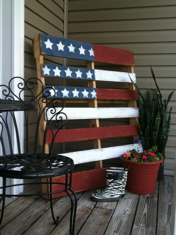 DIY Möbel aus Europaletten selbst basteln DIY ideen amerikanisch