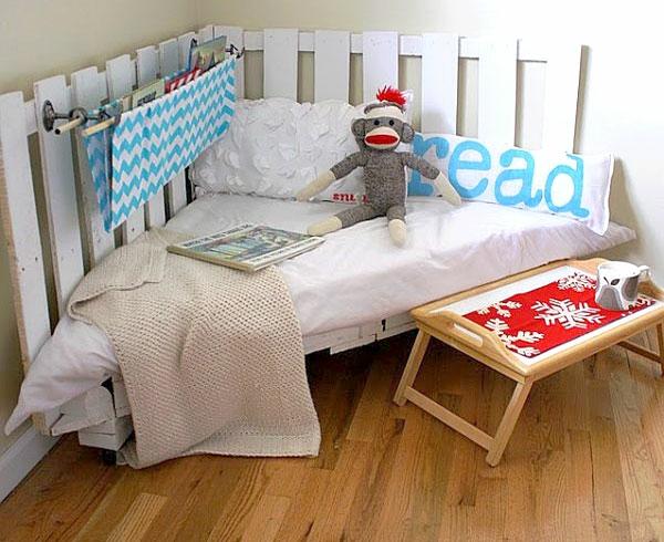 holz paletten möbel selbst basteln DIY ideen bodenbelag