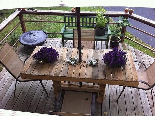 holz paletten möbel selbst basteln DIY ideen charme