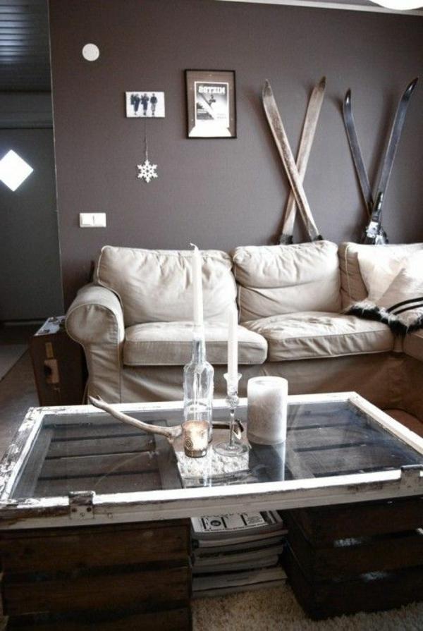paletten ideen wohnzimmer:holz paletten möbel selbst basteln DIY ideen wohnzimmer