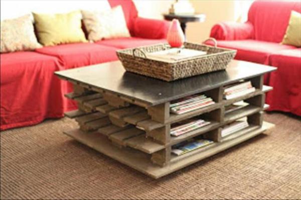 holz paletten möbel selbst basteln DIY ideen couchtisch