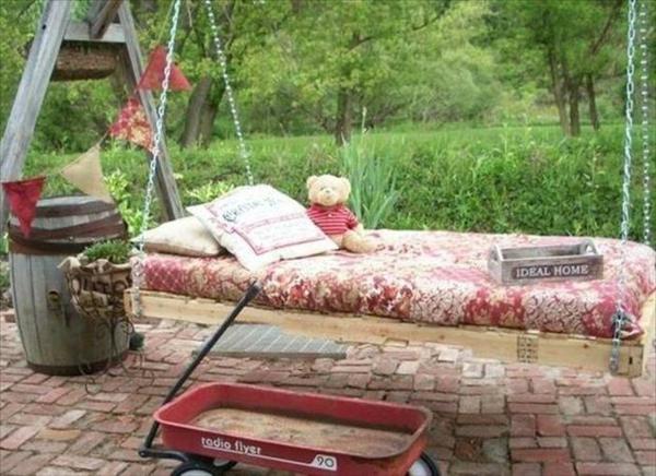 holz paletten möbel selbst basteln DIY ideen garten