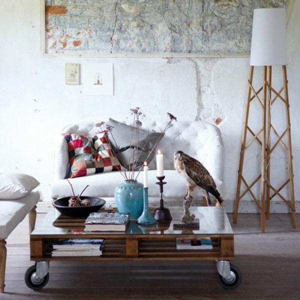 holz paletten möbel selbst basteln DIY ideen gemütlich