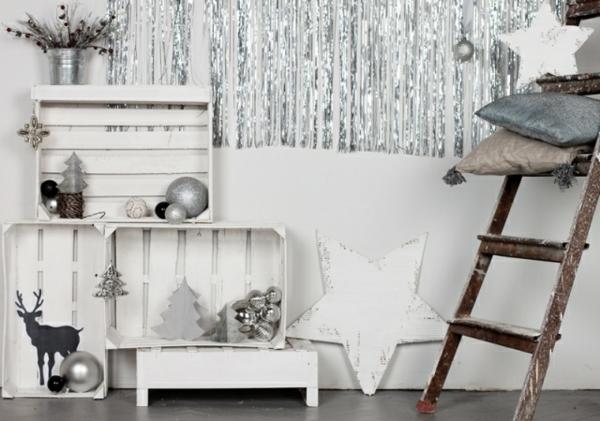 holz paletten möbel selbst basteln DIY ideen leiter