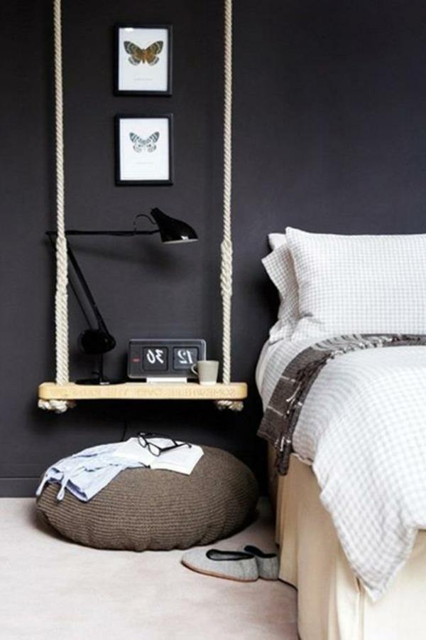 holz paletten möbel selbst basteln DIY ideen schlafzimmer