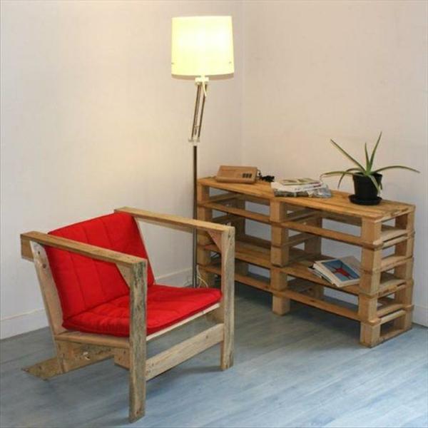 holz paletten möbel selbst basteln DIY ideen stuhl