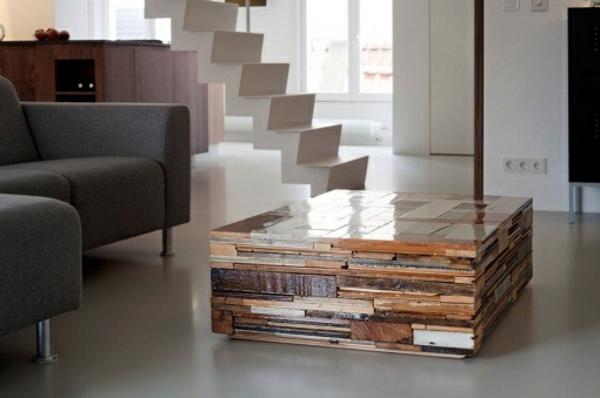 holz paletten möbel selbst basteln DIY ideen treppe