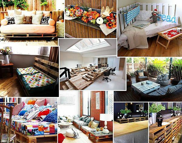 holz paletten möbel selbst basteln DIY ideen vielfalt