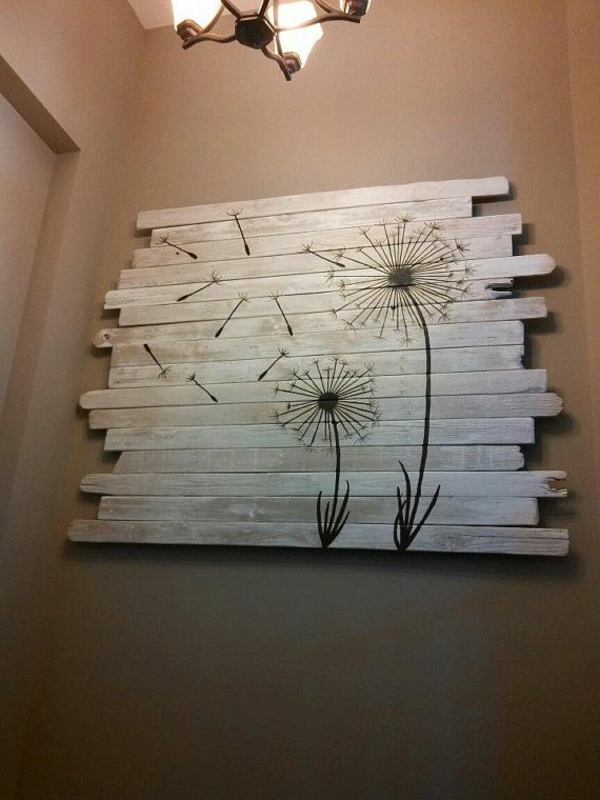 holz paletten möbel selbst basteln DIY ideen wand