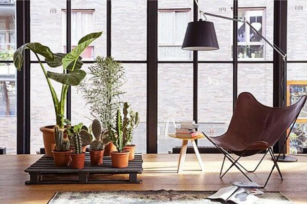 holz paletten möbel selbst basteln DIY ideen wohnzimmer