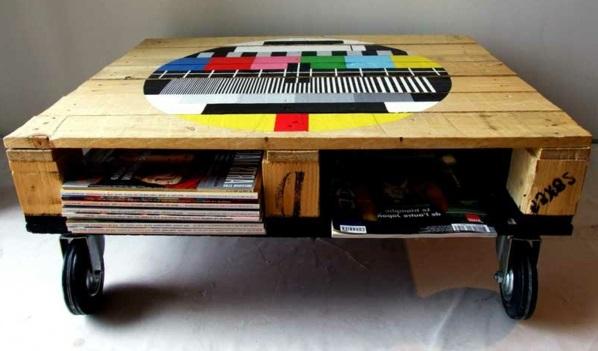 holz paletten möbel selbst basteln DIY ideen wundervoll