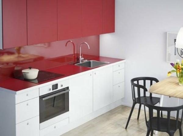ikea küchenschrank rote oberfläche