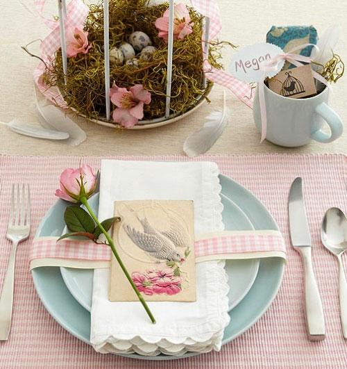küche esstisch tischdeko ostern dekoration teller megan
