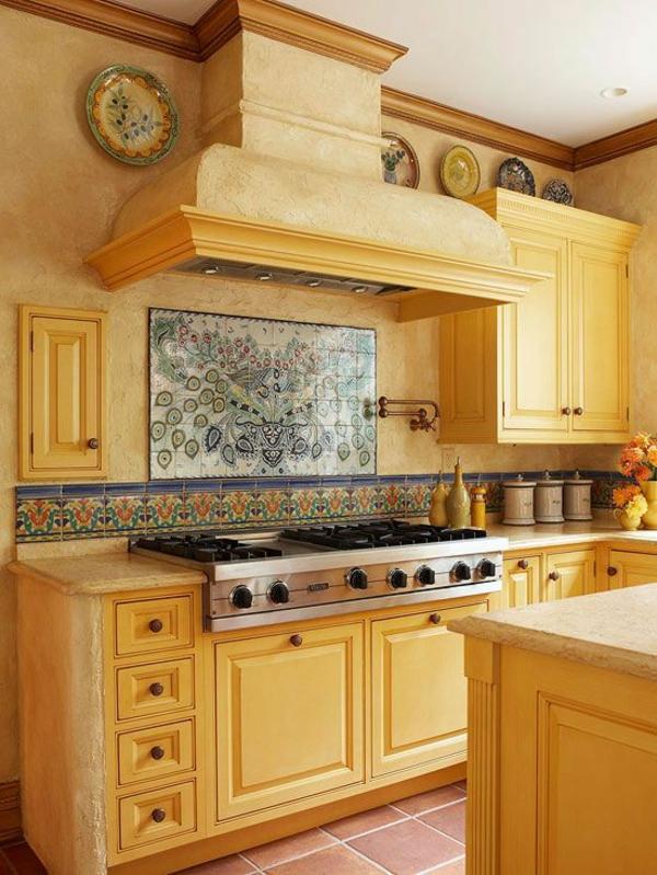 küchenrückwand wandmalerei