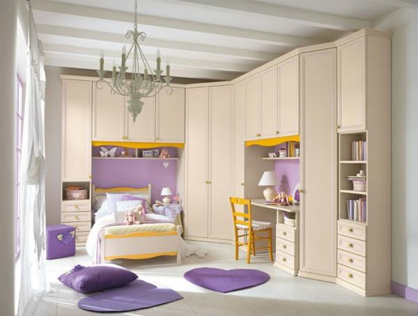 klassisch komplett einrichtung kinderzimmer modern lila