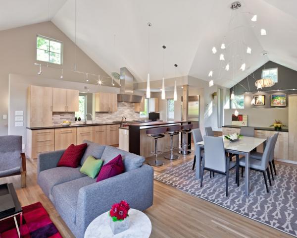 kleines haus von quartersawn mit modernem interieur. Black Bedroom Furniture Sets. Home Design Ideas