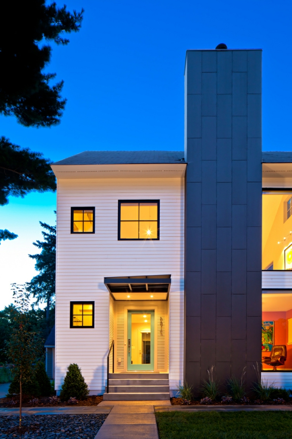 Kleines haus von quartersawn mit modernem interieur for Haus innendekoration