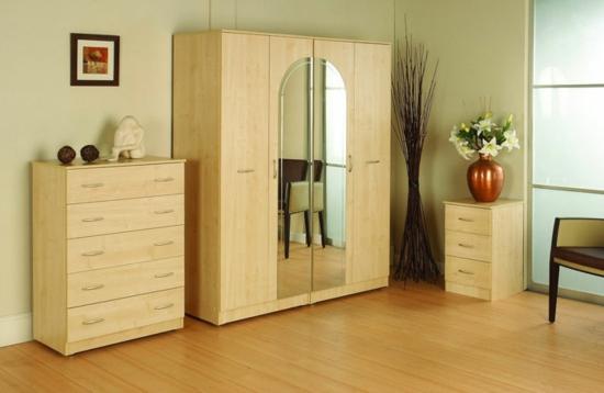 kommode kleiderschrank hell holz Garderobe fürs Schlafzimmer