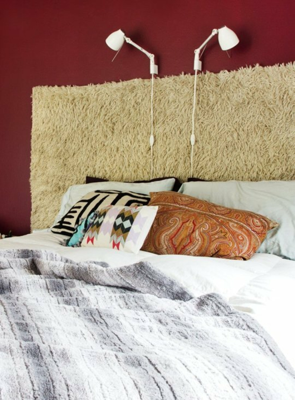 12 ungew hnliche diy ideen f r bett kopfteil. Black Bedroom Furniture Sets. Home Design Ideas