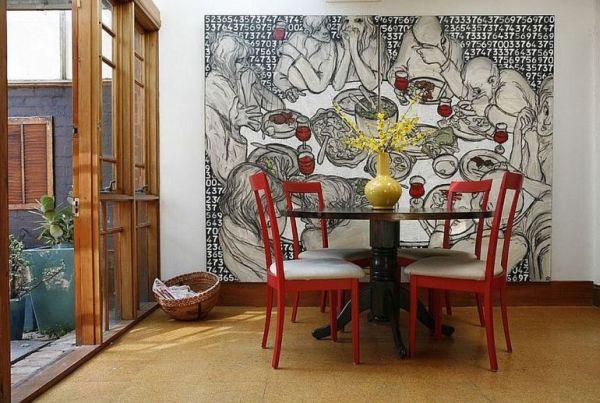 Kreative Wandgestaltung mit Kunstwerken - 12 originelle Ideen
